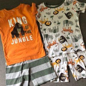 Carter's 4 piece short pajama set
